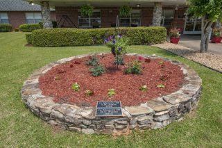 Memorial Flower Bed at Adams Rehab Center