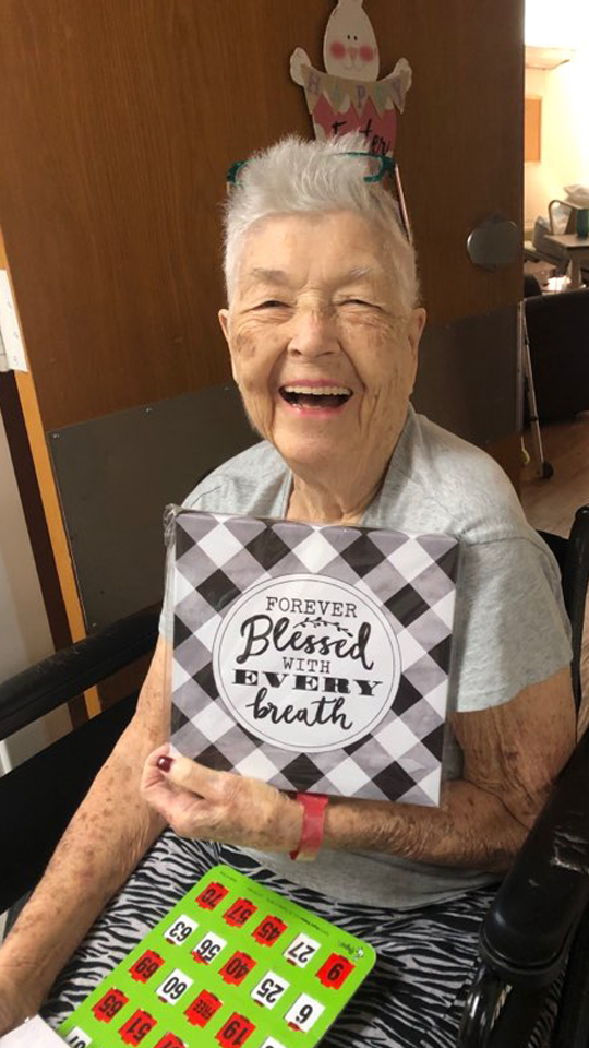 Happy Assisted Living Resident